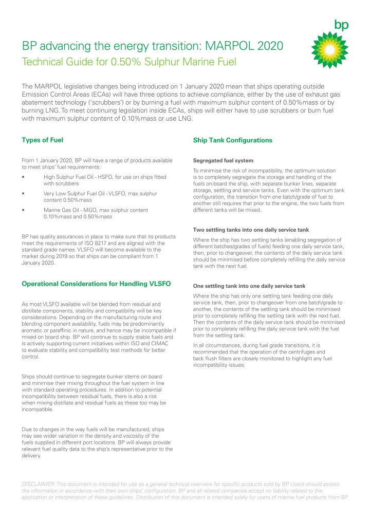bp advancing the energy transition marpol 2020