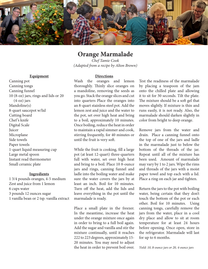 orange marmalade chef tamie cook adapted from