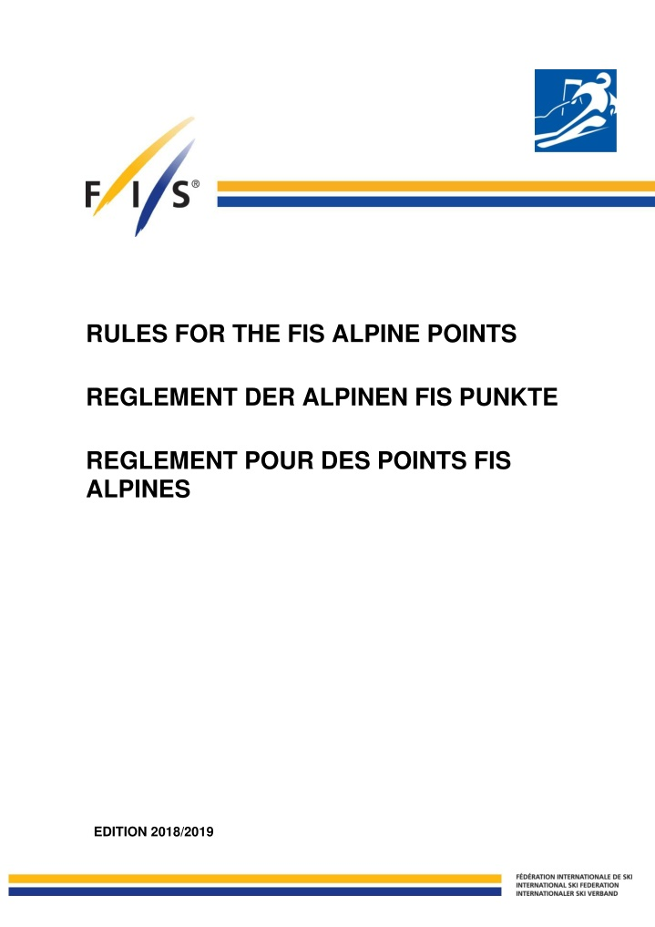 rules for the fis alpine points reglement