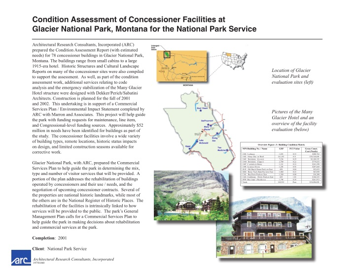 condition assessment of concessioner facilities