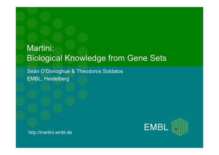 martini biological knowledge from gene sets