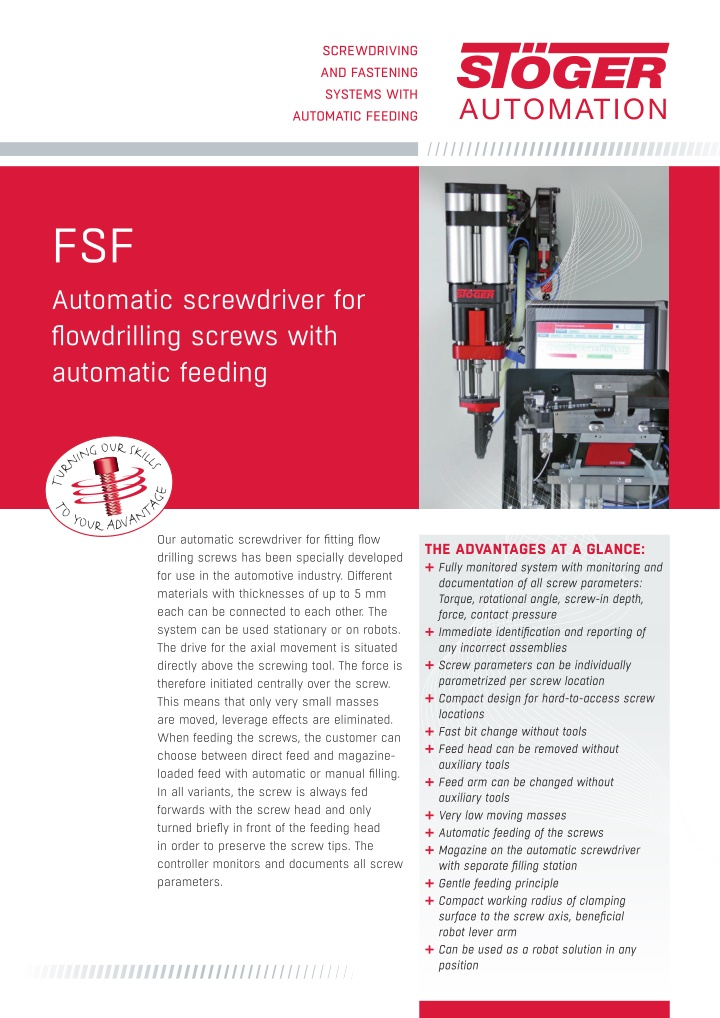 screwdriving and fastening systems with automatic