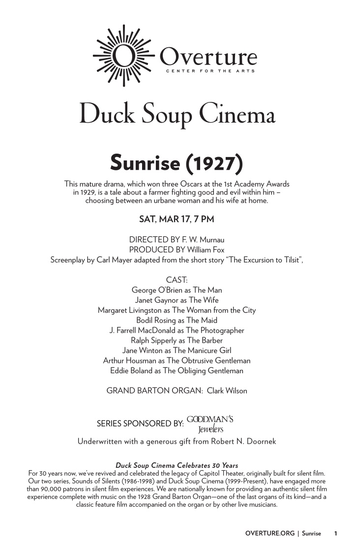 duck soup cinema