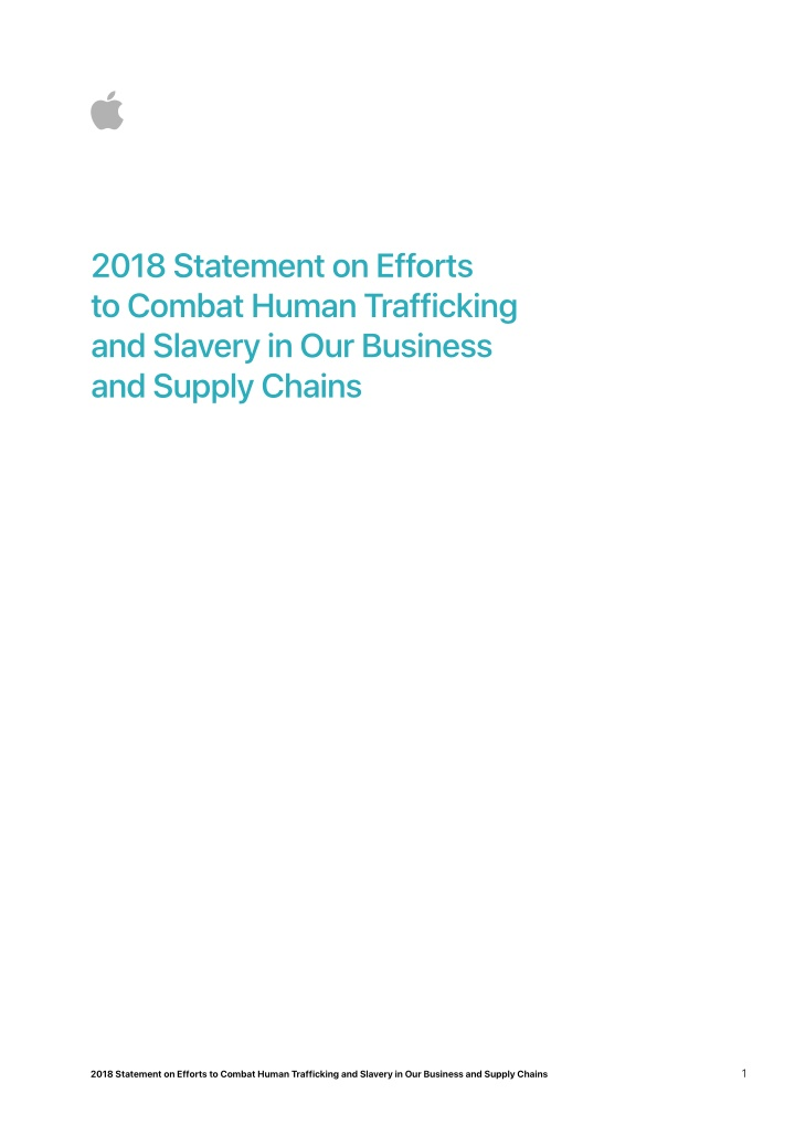 2018 statement on efforts to combat human