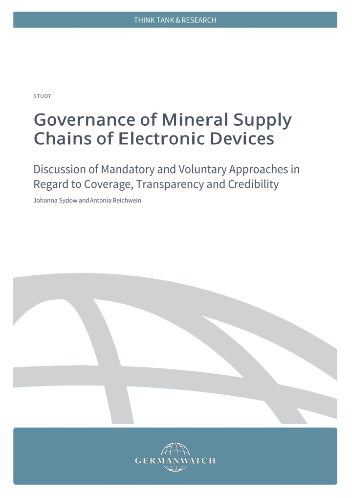 governance of mineral supply chains of electronic