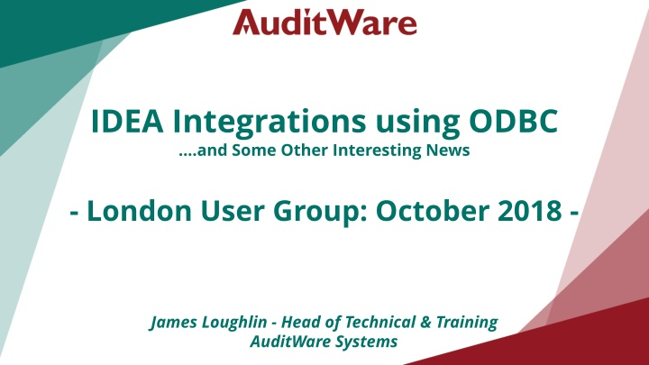 idea integrations using odbc and some other
