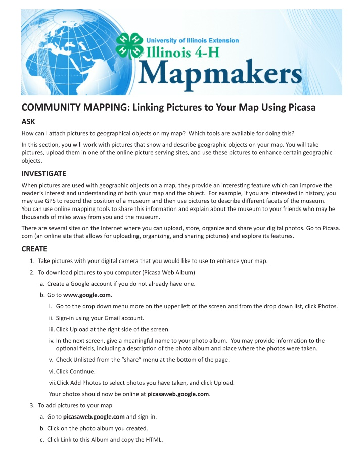 community mapping linking pictures to your