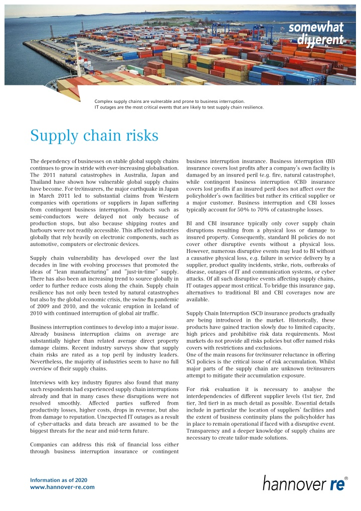 complex supply chains are vulnerable and prone
