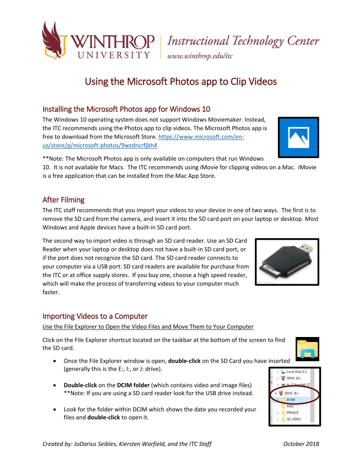using the microsoft photos a using the microsoft