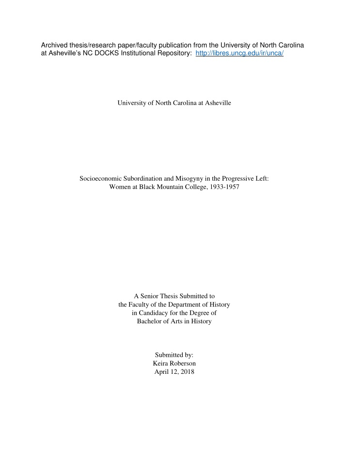 archived thesis research paper faculty