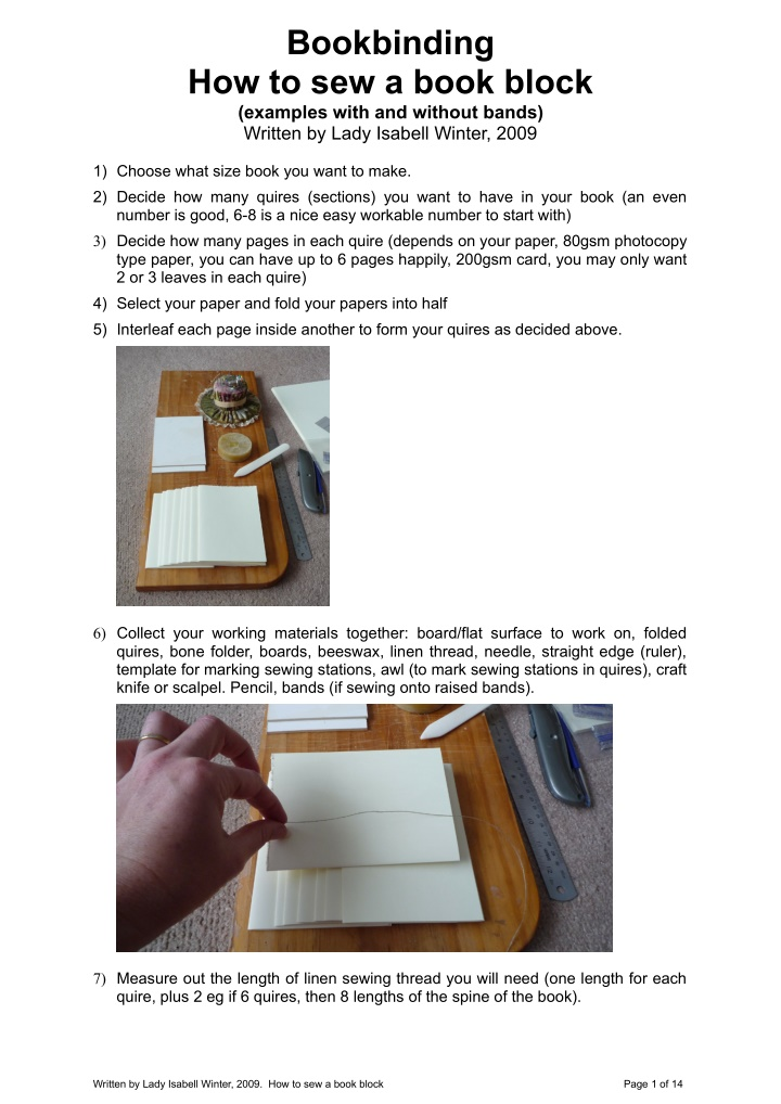 bookbinding how to sew a book block examples with
