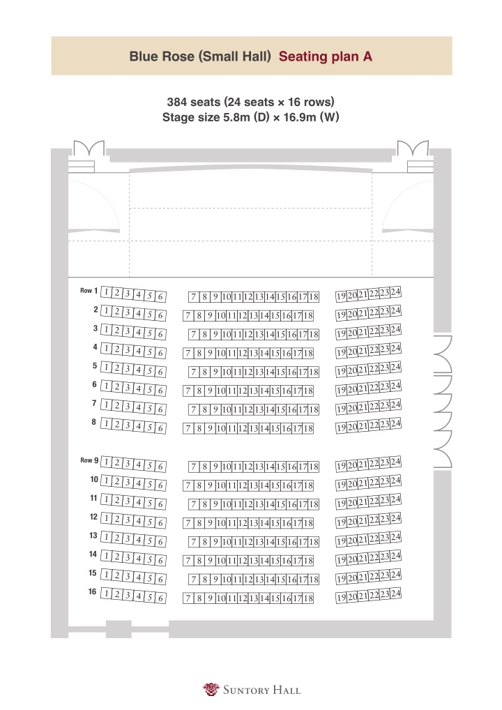 blue rose small hall seating plan a