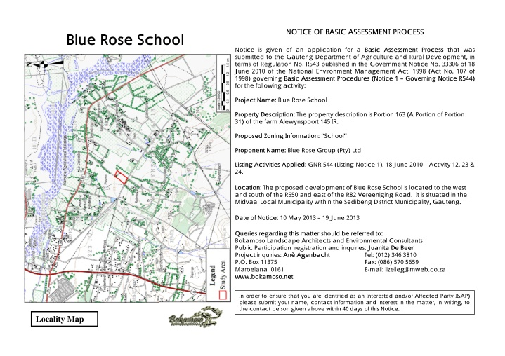 notice of basic assessment process
