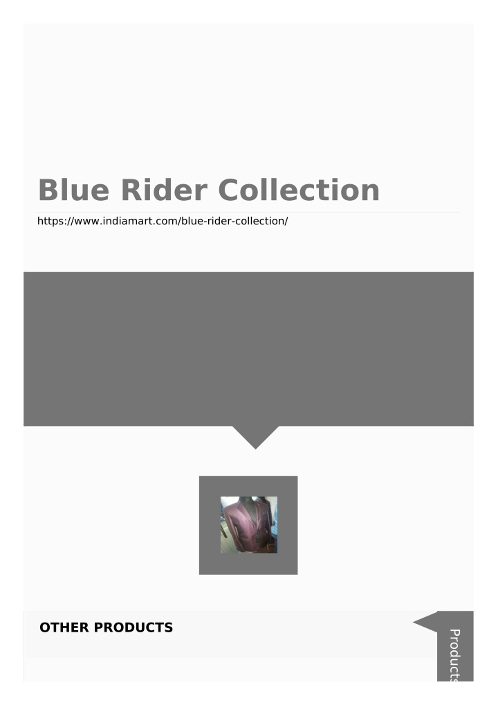 blue rider collection