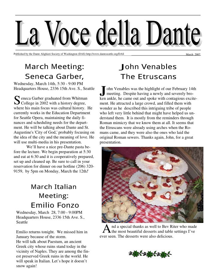 published by the dante alighieri society