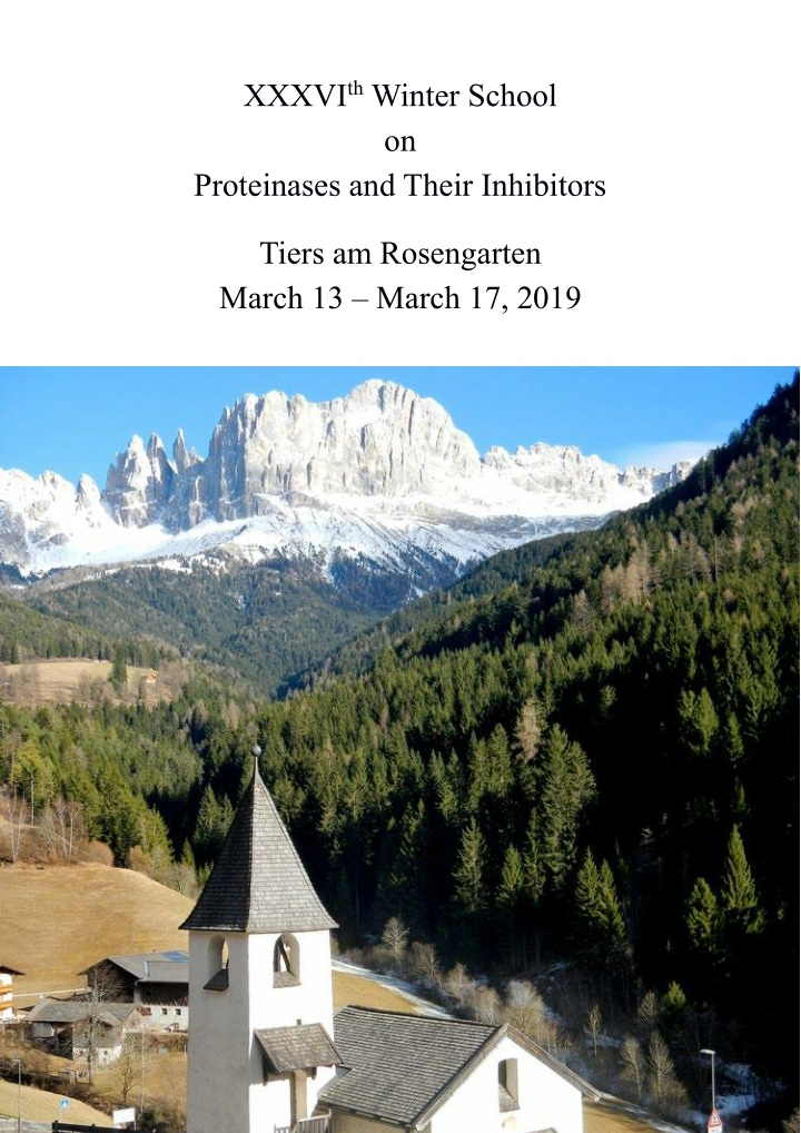 xxxvi th winter school on proteinases and their