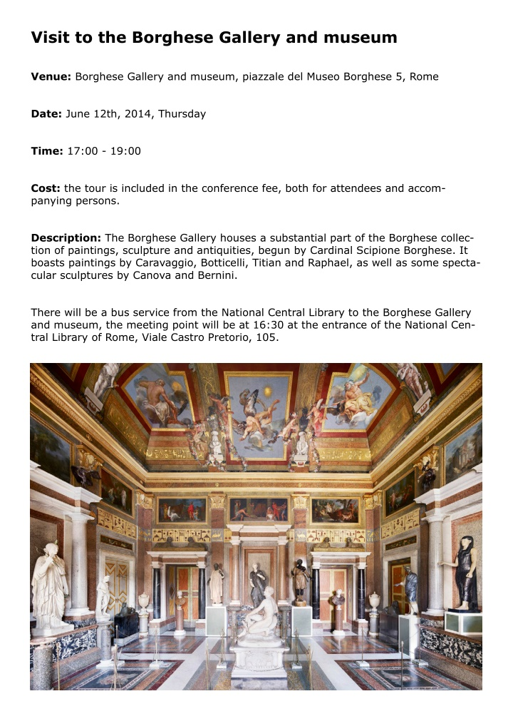 visit to the borghese gallery and museum