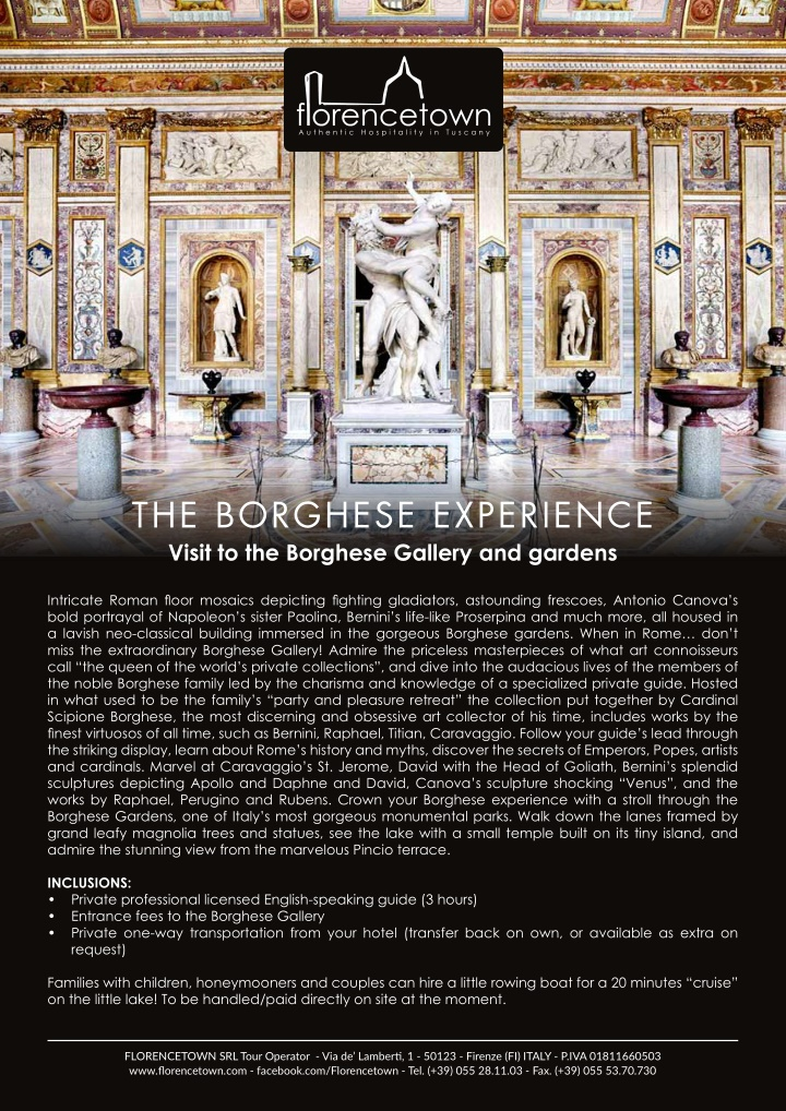 the borghese experience visit to the borghese