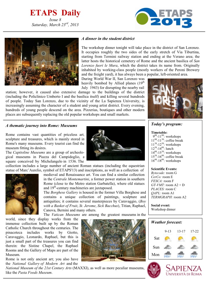 etaps daily issue 8 saturday march 23 rd 2013