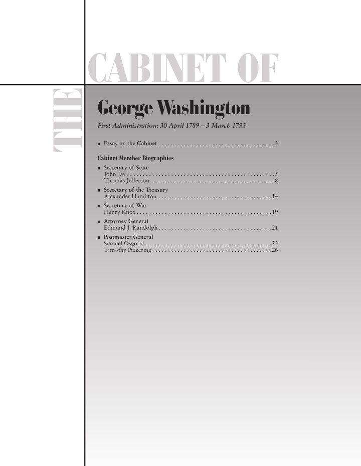 cabinet of