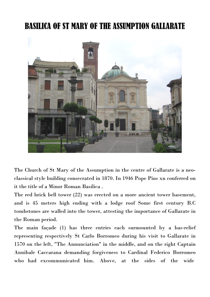 basilica of st mary of the assumption gallarate