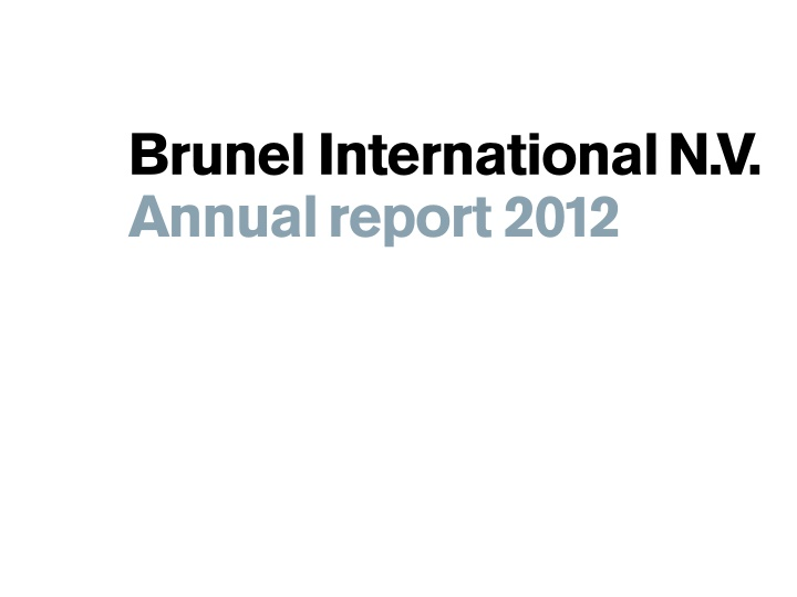 brunel international n v annual report 2012