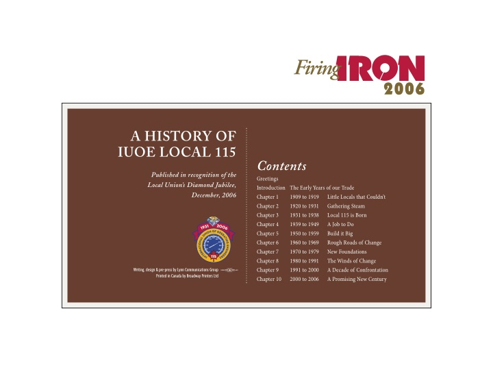 a history of iuoe local 115