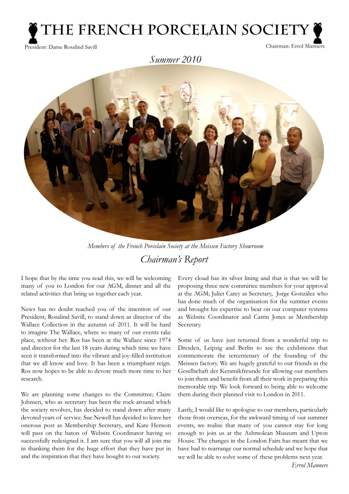 the french porcelain society