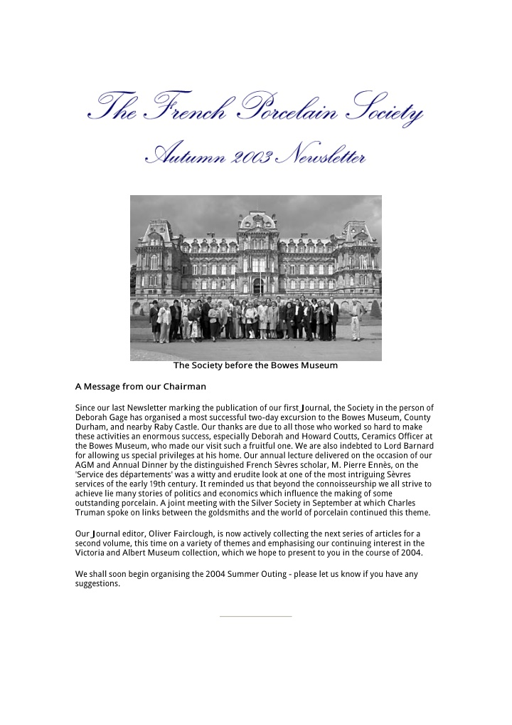 the society before the bowes museum