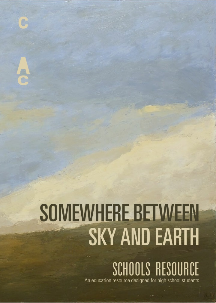 somewhere between sky and earth
