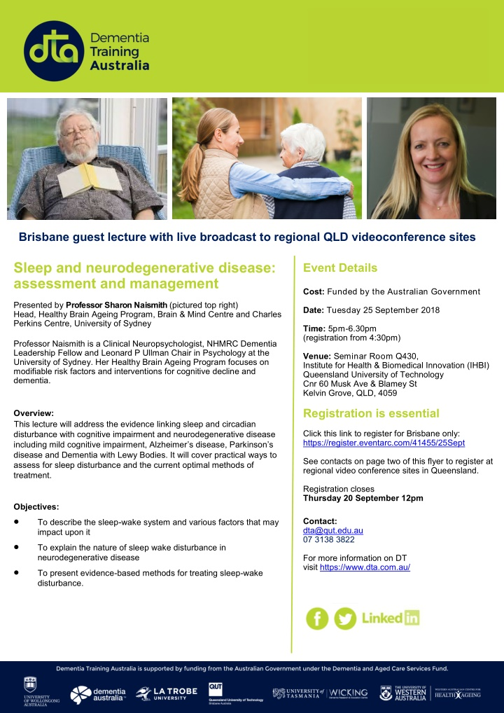 brisbane guest lecture with live broadcast