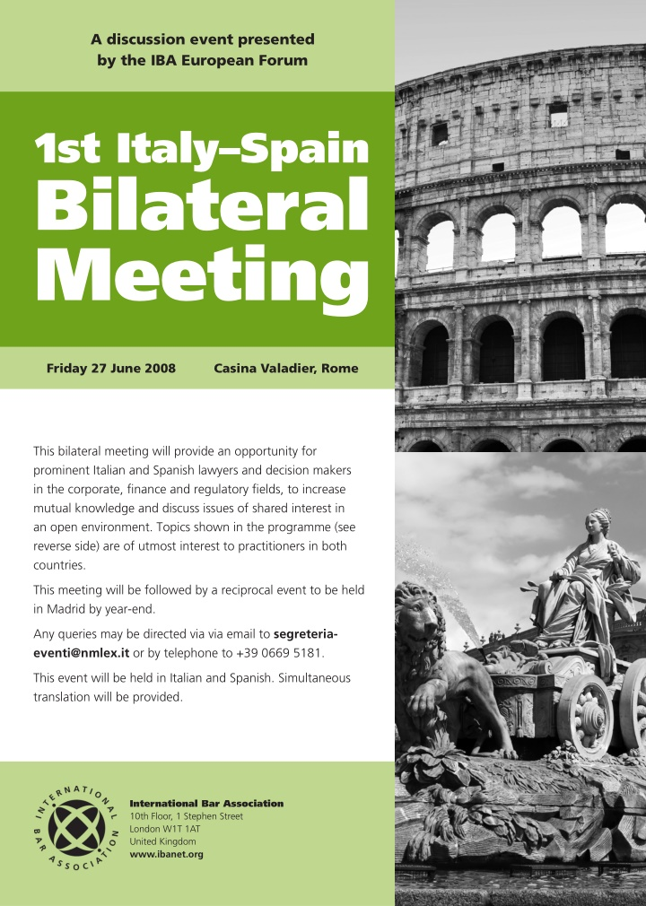 a discussion event presented by the iba european
