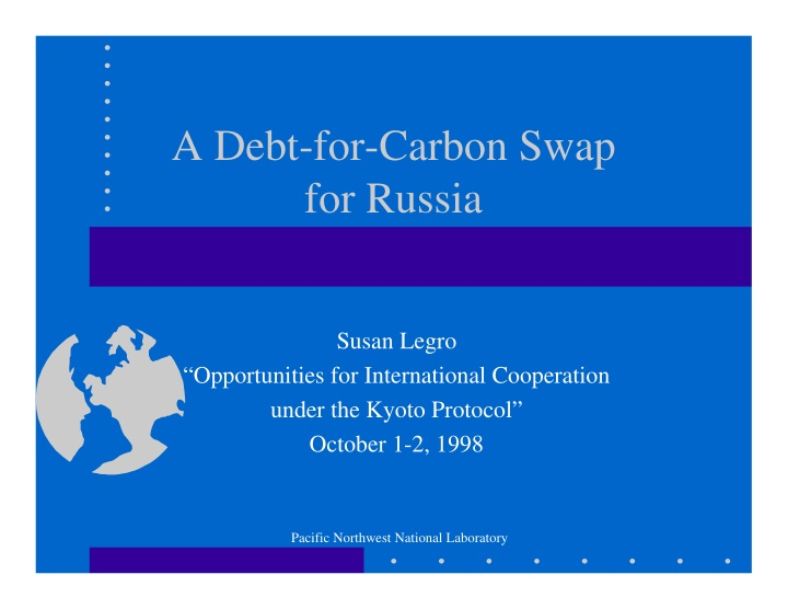 a debt for carbon swap for russia