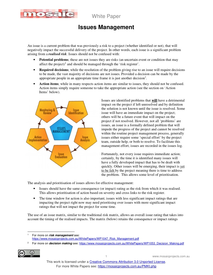 white paper issues management