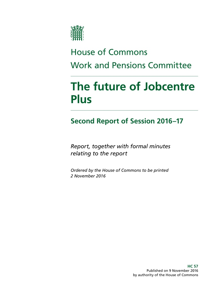 house of commons work and pensions committee